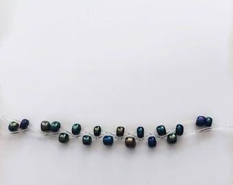 Woven Glass Bead Bracelet