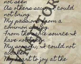 """Edgar Allan Poe """"Alone"""" Bookmark"""
