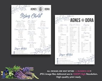 BOTH POSTER Agnes and Dora Price list, Agnes Dora Size Chart, Agnes Dora Marketing, Digital Agnes and Dora, Printable File AG18