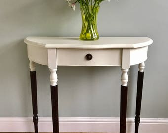 Stunning Antique Console / Hall /half moon table Home