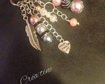 Bag charm / key ring silver