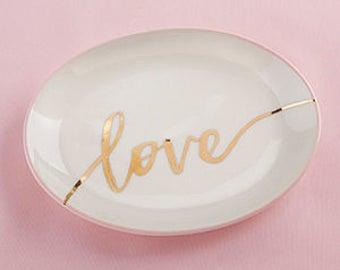 Love wedding ring dish