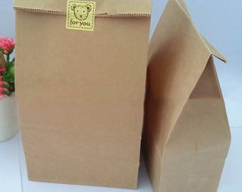 50 Pcs Kraft Paper Bags Wedding Party Favor Treat Candy Buffet Bag/Envelope Gift Wrap