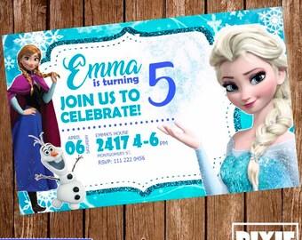 Frozen Invitation, Frozen Birthday Invitation, Frozen Printable or Printed Party, Frozen Birthday, Frozen Birthday Invitation, Frozen