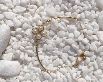 14k gold four leaf clover bracelet