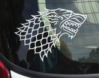 Car Decal - Game of Thrones inspired House Stark Direwolf Sigil Decal