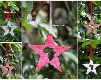 Africa/South Africa Christmas Star Decorations
