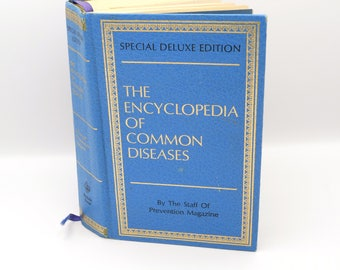 Special Deluxe 1976 Edition The Encyclopedia of Common Diseases Reference Book By the Staff Of Prevention Magazine, 70's Medical Prop