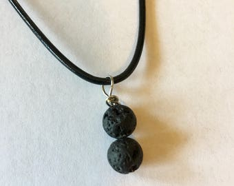 Lava rock bead necklace essential oil diffuser aromatherapy