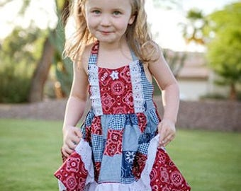 Ginger Cowgirl Dress // 3T, 4T, 6, 7, 8 // Handmade