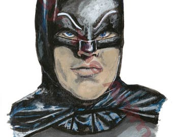 Original Adam West Batman 1966 painting