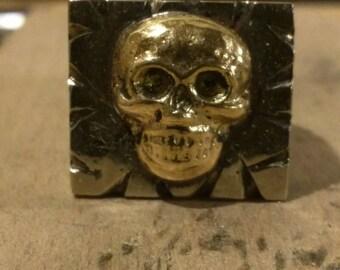 """R.S.""""Grinning skull"""" Souvenir biker ring"""