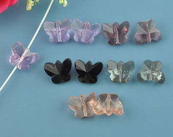 Butterfly rose quartz bead