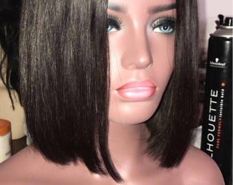 Short bob wig lace frontal 9A hair grade