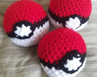 Mini Amigurumi Pokeballs- READY TO SHIP