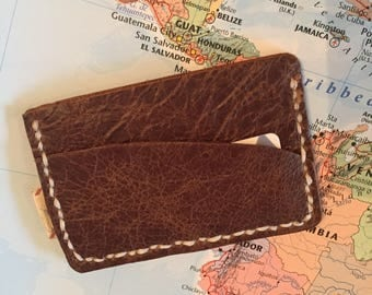 Handmade Slim Leather Card Wallet - unisex