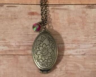 Antique silver locket