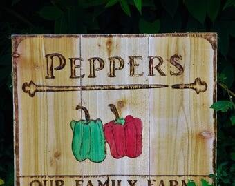 peppers garden sign