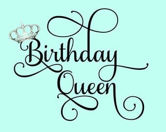 Birthday Queen Crown SVG/DXF/PNG