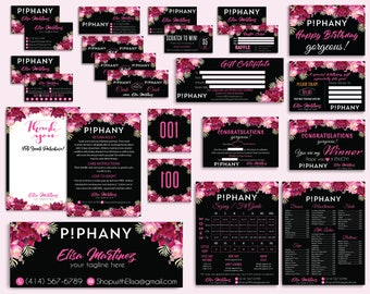Piphany Marketing Set, Piphany Marketing Kit, Piphany Bundle, Custom Piphany Package, PERSONALIZED Piphany Cards, Digital files PP25