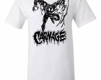 Spider-Man Inspired  Carnage T-Shirt Sz:S-2XL