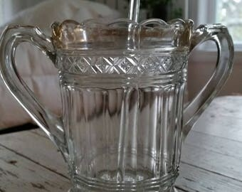 Vintage/Antique Glass Spooner With Handles