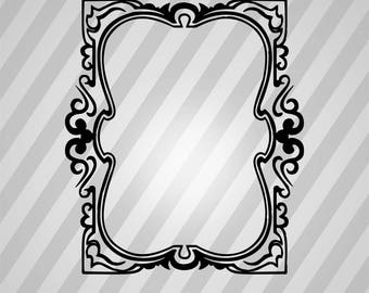 Frame Silhouette - Svg Dxf Eps Silhouette Rld Rdworks Pdf Png Ai Files Digital Cut Vector File Svg File Cricut Laser Cut