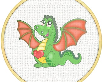 Baby Dragon Cross Stitch Pattern, Cross Stitch PDF, Cross Stitch pattern, Dragon Heart Cross Stitch Cross Stitch Super Dragon Dragon Dragon