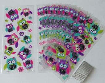 20pc. Girl Owl Loot Candy Favor Bags ~ Birthday Party Supplies Favors
