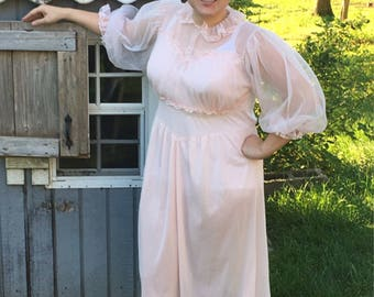 Vintage Nightgown / lingerie Styled by Carlton