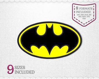 Batman Applique Embroidery Machine Design - 9 Sizes - INSTANT DOWNLOAD - Applique, Embroidery, Designs