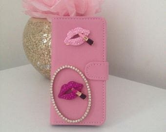 Bling make up iPhone 5s Wallet Case