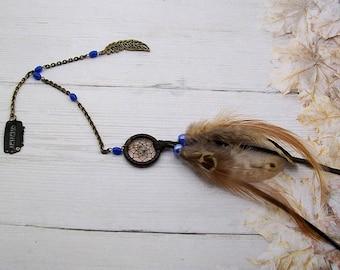 fascinator dream catcher blue beads