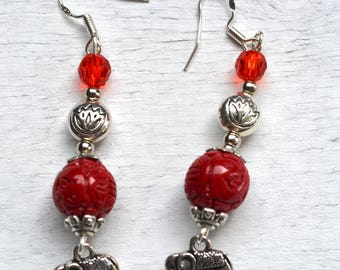 "Earrings ""Travel in India"""