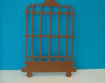 Cut bird cage of 11.5 cm in height for scrapbooking and card