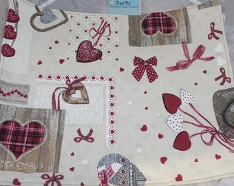 set de tables motif patchwork country