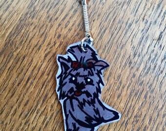 Keychain or bag charm adorable yorkshire dog