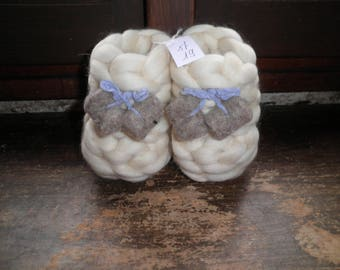 """pure sheep wool slippers """"Paws"""""""