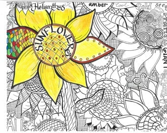 Sunflowers Coloring Sheet