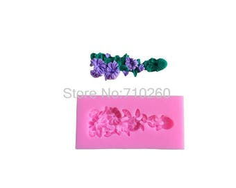 large 3D polymer clay flower silicone mold