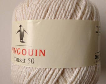 10 balls of cotton macrame / ecru / made in FRANCE