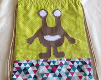 """Bag blanket, snack, Monster slippers """"Little"""" bag"""