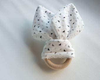 Natural wooden teething ring