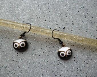 Metal color nugget earrings