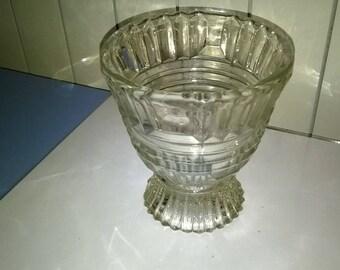 456) cut glass ice bucket
