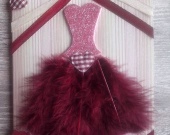 """Card all occasions """"for the most beautiful"""" Feather dress collection"""