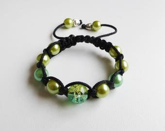 lime green and Apple green child bracelet