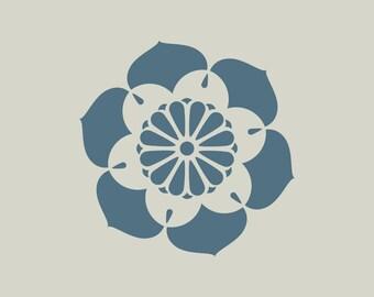 Flower stencil. Floral stencil (ref 457)