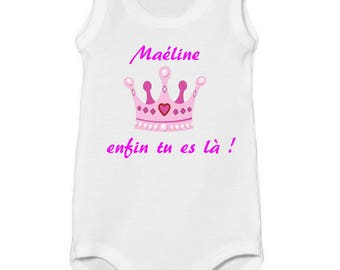 Onesie tank top Crown, are you the personalized with name