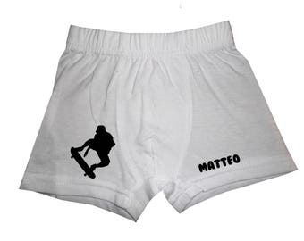 pants white boy skateboarding personalized with name